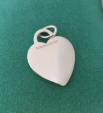 Tiffany & Co Sterling Silver Blank Heart Tag Charm or Pendant