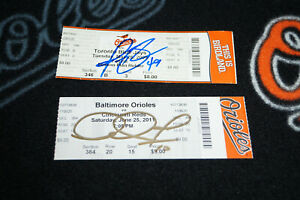 ORIOLES SIGNED GAME TICKETS ADAM JONES & JASON BERKEN