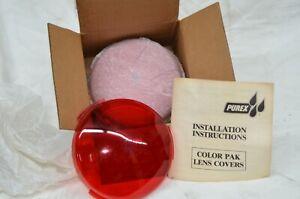 "Purex Color Pack Lens Pool Light Plastic Lens Cover RED 7"" fits Chrome & SS Trim"