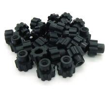Nylon Plastic Black Knurled Thumb Nut, 10-24, Qty 25