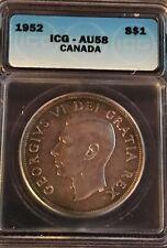 1952 Canadian $1 Coin ICG - AU58 (C363)