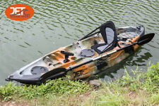 2.7M Jetocean Single Sit On Top Fishing KAYAK with Paddle and Seat Jungle Camo