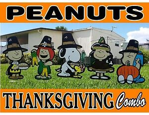 Peanuts Snoopy Thanksgiving Combo Outdoor Decorations