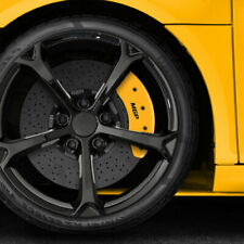 Set Of 4 Front And Rear Yellow Mgp Caliper Covers For 2013 2017 Honda Accord