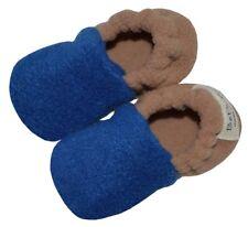 Infant Booties - Royal Blue / Camel