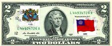 $2 DOLLARS 2013 STAMP CANCEL FLAG & COATS OF ARMS BURMA LUCKY MONEY VALUE $125