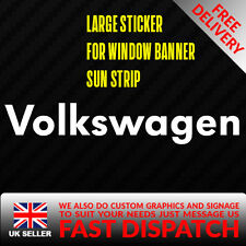 VW VOLKSWAGEN Sticker Badge for Sun strip Vinyl Decal Banner Sponsor Visor VDUB