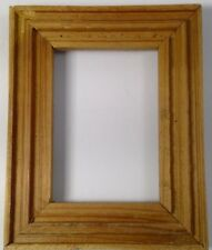 """wooden picture frame unfinished small rectangular 3-D natural 4.5"""" x 7/8"""" x 8"""""""