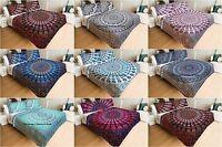 Indian Luxury Bohemian Quilt Blanket Doona Comforter Quilted Coverlet Set Hippie