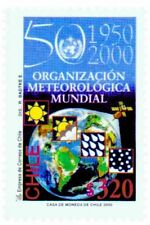 Chile 2000 #2002 50 años Organizacion Meteorologica Mundial MNH