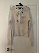 Joseph Cream Lace Sweater Chunky 100% Cashmere Knit Size S