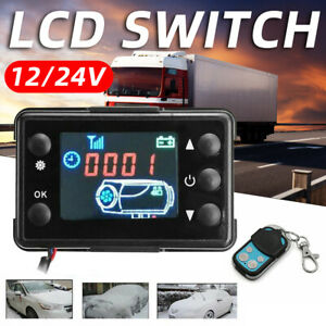 Car Air Diesel Heater LCD Switch Parking Controller 4-Button Remote Control 12V