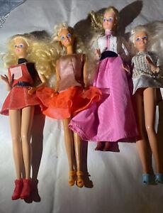 Lot of 4 Vintage 80's Barbies Superstar Era?