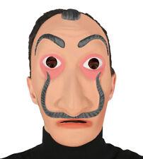 Money Heist Mask Salvador Dali Fancy Dress Bank Robber Costume Halloween Maske