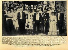 Inaugurazione del paese sede Legazione tedesca Teheran Frhr. V. Richthofen 1906