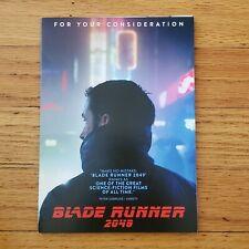New listing Warner Bros Blade Runner 2049 Dvd For Your Consideration Fyc 2017 Awards Rare
