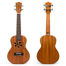 Kmise Mahogany Concert Ukulele 23 inch Hawaii Guitar Bridge for Student