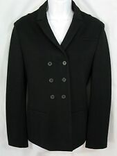JIL SANDER Size 36 6 US Wool Blend Black Double Breasted Jacket Blazer