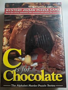 C Is For Chocolate Mystery Jigsaw Puzzle Game Two 500 Piece Puzzles NEW Sealed