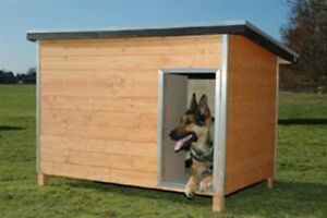 CRUFTS LUXURY INSULATED TANALISED WOODEN DOG KENNEL