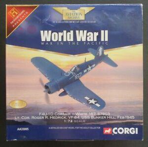 Vought F4U-1D Corsair Lt. Cdr Roger Hedrick White 167 1/72 Corgi Diecast AA33005