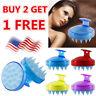 Silicone Scalp Shampoo Massage Brush Washing Massager Shower Head Hair Comb US