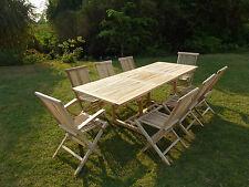 Ensemble salon de jardin en teck AMARA 6 chaises 2 fauteuils