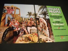 Village People Go West rare 2-piece Promo Display Ad mint condition