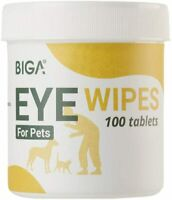 BIGA Pet Eye Cleaner Wipes with Aloe Vera Extract for Cats Puppy Tear Stain 100c