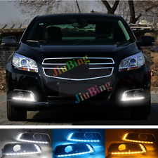 For Chevrolet Malibu 2012-2014 LED DRL Daytime Running Lights With Turn Signal c