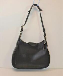 Authentic Coach F0K -8134 black leather small Hobo Handbag Purse Bag