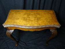 Exceptional Fine Antique George II Style Burr Walnut Concertina Games Card Table