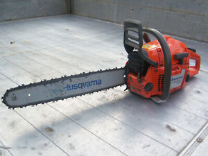 "HUSQVARNA 353 CHAINSAW WITH 18"" HUSQVARNA BAR AND CHAIN IN GOOD WORKING ORDER"