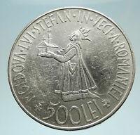 1941 ROMANIA Michael I Romanian Lady & Bird Antique Genuine Silver Coin i76639