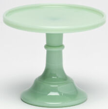 Cake Plate Pastry Tray Bakers Plain u0026 Simple Jade Jadeite Green Glass ... & Green Cake Stands | eBay