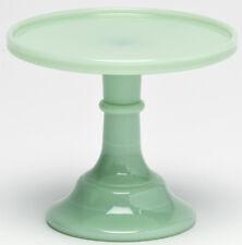 "Cake Plate Pastry Tray Bakers Plain & Simple Jade Jadeite Milk Green Glass - 6"""