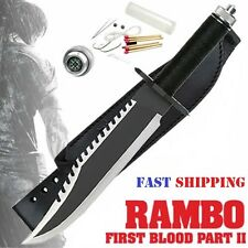 KNIFE RAMBO FIRST BLOOD PART II Sylvester Stallone No Signature Multi-function