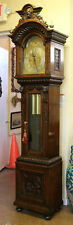 Incredible Tiffany & Co Durfee Quarter-Sawn Oak Lion Tall Case Grandfather Clock