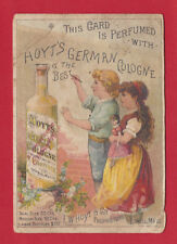 1886 E W HOYT & CO GERMAN PERFUME COLOGNE VICTORIAN OLD TRADE CARD LOWELL MASS