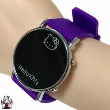 Reloj digital Hello Kitty Morado + regalo pendientes