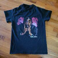 2Pac Poetic Justice Graphic T Shirt Black Men's Size S Tupac Shakur Rapper EUC