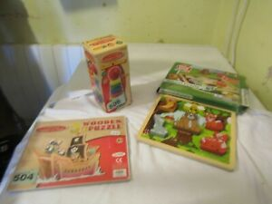 Wooden Puzzles/Stacking Tower Bundle
