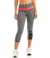 Women's Active Performance Fitspiration Spacedye Capri Legging L Free Ship NWT