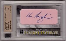 VIC HADFIELD 10/11 ITG Famous Fabrics Hockey Ink Auto Autograph #1/1 Papercut SP