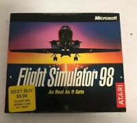 Microsoft Flight Simulator 98 for Windows PC 95/98 Atari New Sealed