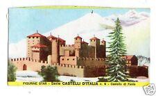 FIGURINA  CARTONATA BRODO STAR SERIE CASTELLI D'ITALIA NR 9 CASTELLO DI FENIS