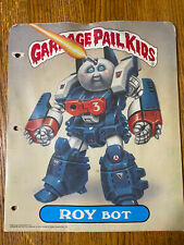 Garbage Pail Kids Roy Bot & Ashcan Andy #5 Folder Topps 1986 And Extras