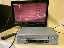 Bush VHS Player Cassette Player VCR925NSIL in working condition
