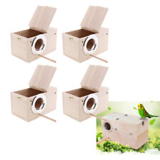 4pcs Solid Wood Budgie Nest Boxes Nesting Boxes For Budgies Birds Lovebird S