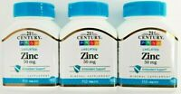 21st Century Zinc 50 mg 110 ct Bottle -3 Pack - Expiration Date 01-2024